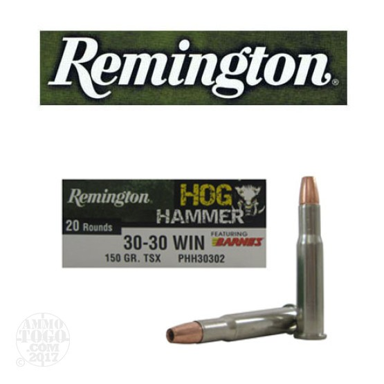 200rds - 30-30 Remington Hog Hammer 150gr. TSX HP Ammo