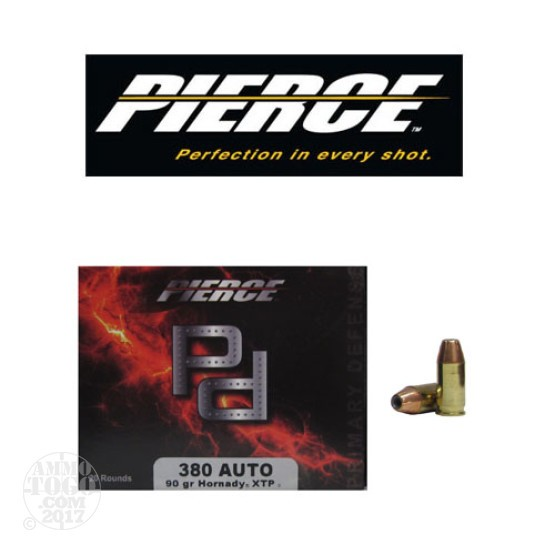 20rds - 380 Auto Pierce 90gr. XTP HP Ammo