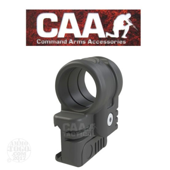 "1 - CAA Low Profile Offset Laser Mount 1"" Black Polymer"