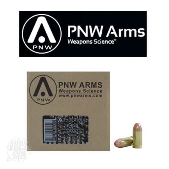500rds - 45 ACP PNW Arms Kriss Vector Subsonic 230gr. TMJ Range Pack Ammo