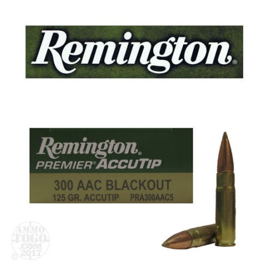 20rds - .300 AAC BLACKOUT Remington Premier 125gr. Accutip Ammo