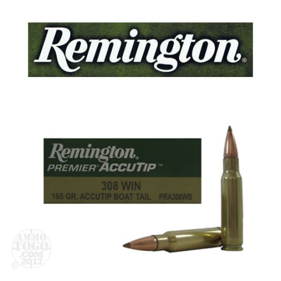 20rds - 308 Win Remington Premier Accutip 165gr. Accutip Boat Tail Ammo