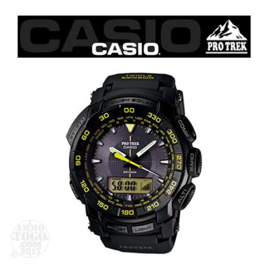 1 - Casio Pro Trek PRG550 TAC Atomic Solar Watch Black
