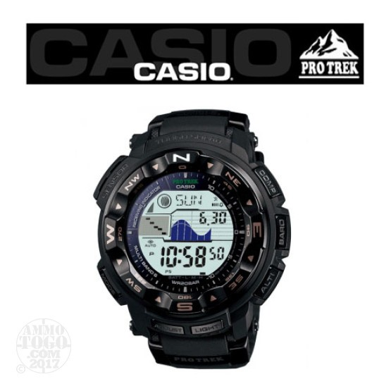 1 - Casio Pro Trek PRW2500 TAC Dual LCD TriSensor Watch Black