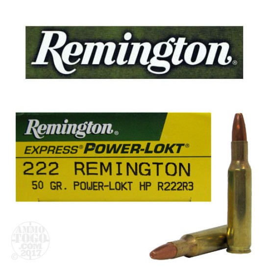 20rds - 222 Remington 50gr. Power-Lokt Hollow Point Ammo