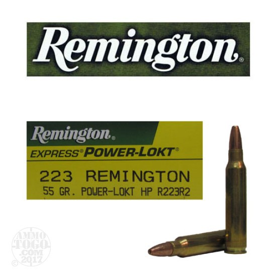 20rds - .223 Remington Express Power-Lokt 55gr. HP Ammo