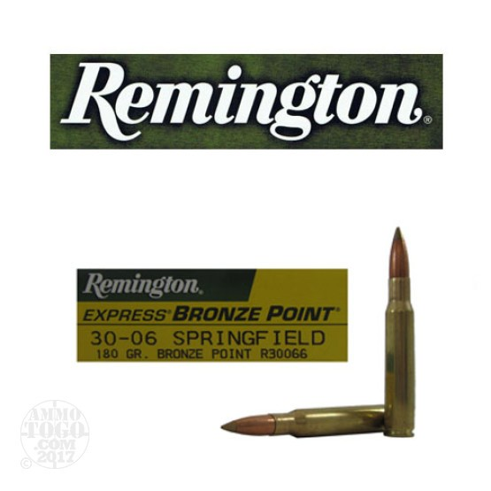 20rds - 30-06 Remington Express 180gr. Bronze Point Tipped Ammo