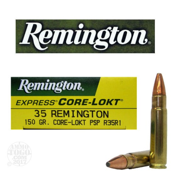 20rds - 35 Remington 150gr. Pointed Soft Point Ammo