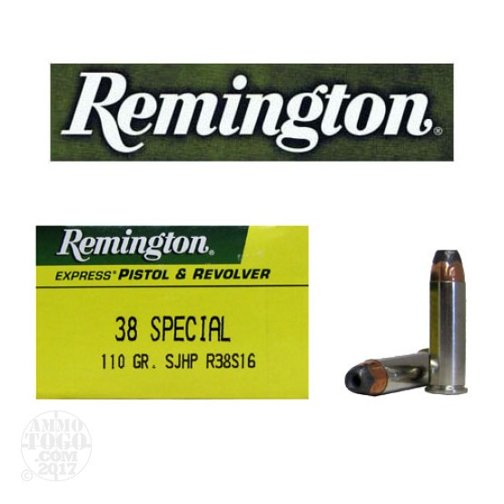 500rds - 38 Special Remington 110gr. Semi-Jacketed Hollow Point Ammo