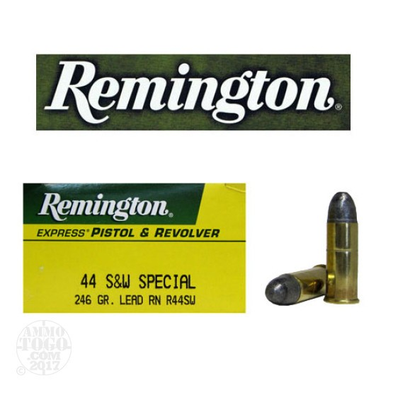 50rds - 44 Special Remington 246gr. Lead Round Nose Ammo