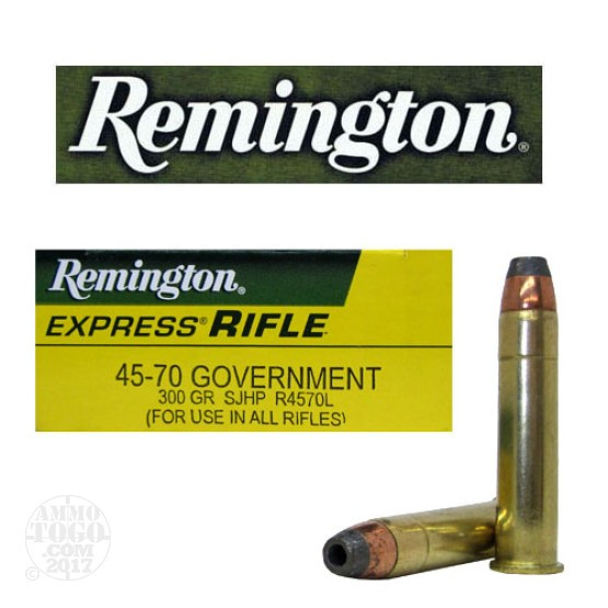 20rds - 45-70 Govt. Remington 300gr. Hollow Point Ammo