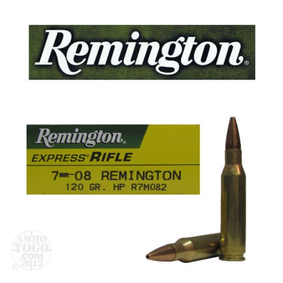 20rds - 7mm-08 Remington 120gr. Hollow Point Ammo