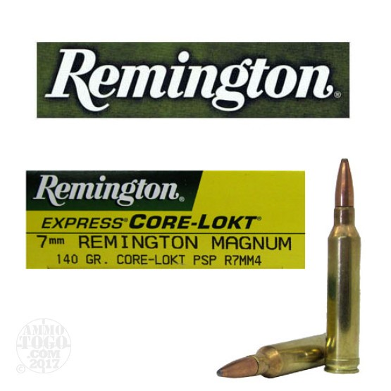 20rds - 7mm Rem Mag Express Core-Lokt 140gr. Pointed Soft Point Ammo