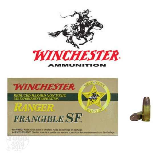 50rds - 9mm Winchester Ranger 90gr. +P Frangible Ammo