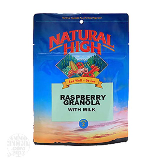 1 - Natural High Raspberry Granola with Milk Serves 2