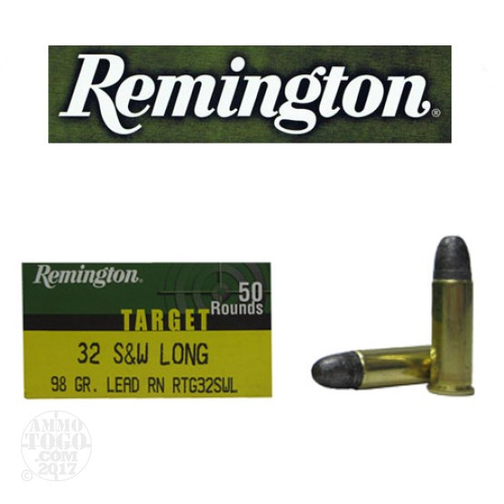 500rds - 32 S&W Long Remington Target 98gr. LRN Ammo