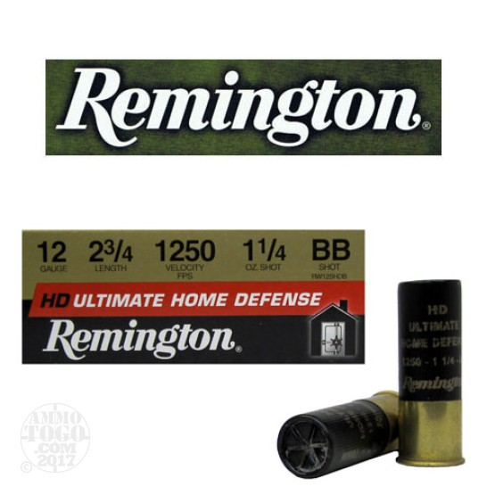 "10rds - 12 Gauge Remington Ultimate Home Defense 2 3/4""  BB Shot Ammo"