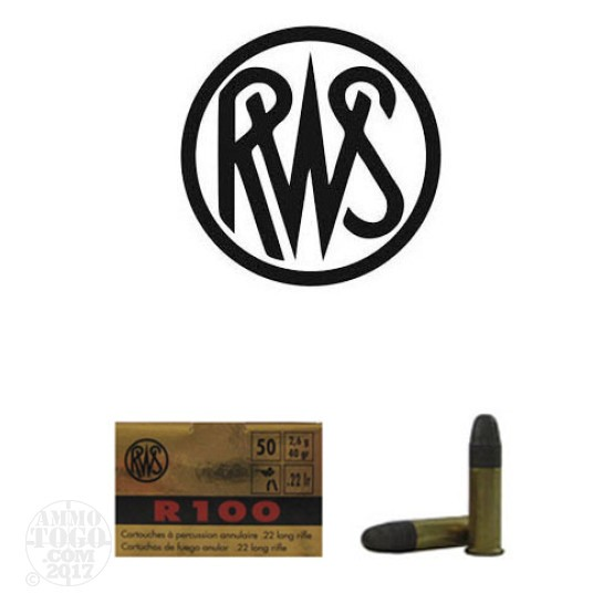 50rds - 22LR RWS R100 40gr. Solid Point Ammo