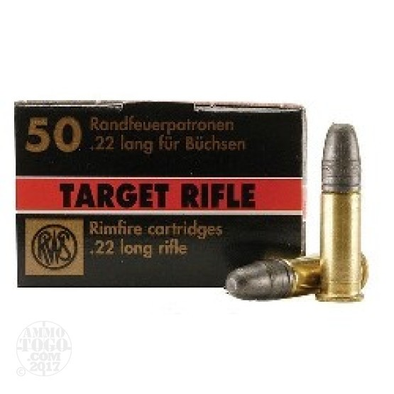 500rds - 22LR RWS Target Rifle 40gr. Solid Point Ammo