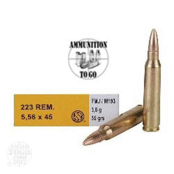 1000rds - .223 Sellier & Bellot 55gr. FMJ Ammo