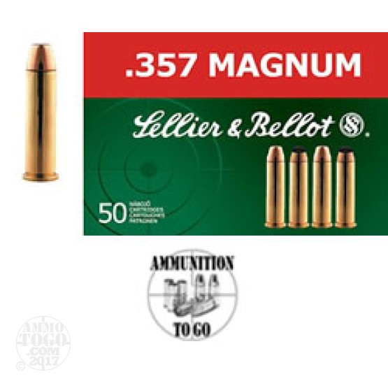 50rds - .357 Mag Sellier & Bellot 158gr. FMJ Ammo