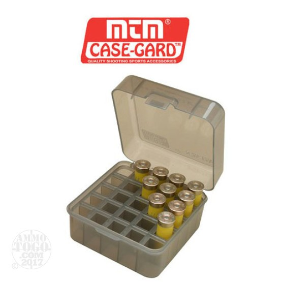 "1 - MTM 25rd. Shotshell Box 3 1/2"" Magnum 10 or 12 Gauge - Clear Smoke"
