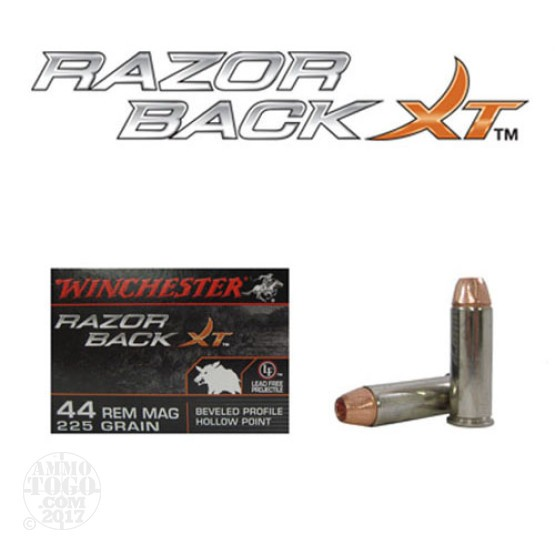 20rds - 44 Mag Winchester Razorback 225gr. BPHP Ammo