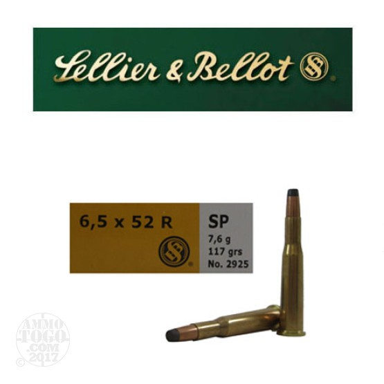 20rds - 25-35 Win. / 6.5x52R Sellier & Bellot 117gr. SP Ammo
