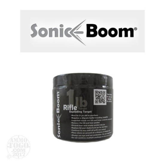 1 - Sonic Boom Exploding Rifle Target 1lb.