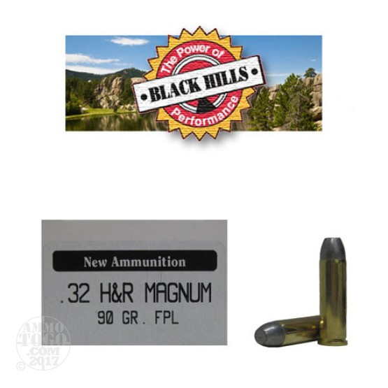50rds - 32 H&R Magnum Black Hills Cowboy 90gr. New Seconds FPL Ammo