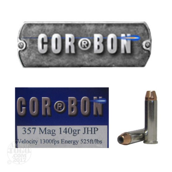 20rds - 357 Mag Corbon 140gr. HP Ammo