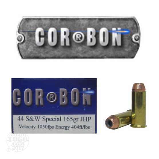 20rds - 44 Special Corbon 165gr. HP Ammo