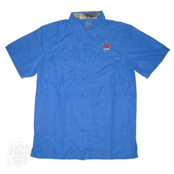 1 - GameGuard Pacific Blue MicroFiber Shirt (Medium) With Ammo To Go Logo