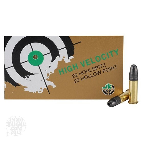 500rds - 22LR SK High Velocity 40gr. Hollow Point Ammo