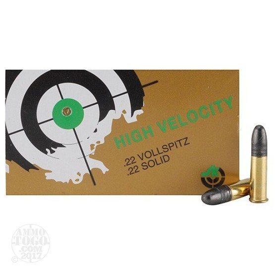500rds - 22LR SK High Velocity 40gr. Solid Point Ammo