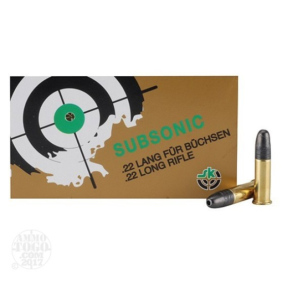 100rds - 22LR SK Sub-Sonic 40gr. Hollow Point Ammo
