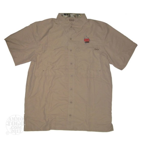 1 - GameGuard Khaki MicroFiber Shirt (X-Large) With Ammo To Go Logo