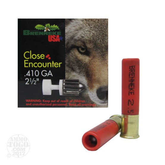 "25rds - 410 Gauge Brenneke Close Encounter 2 1/2"" 1/4oz. Slug Ammo"