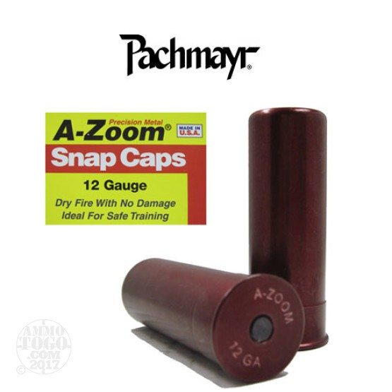 2rds - 12 Gauge Pachmayr A-Zoom Snap Caps