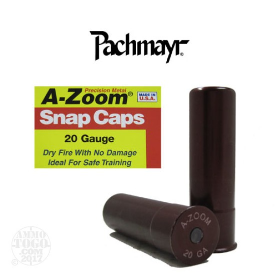 2rds- 20 Gauge Pachmayr A-Zoom Snap Caps
