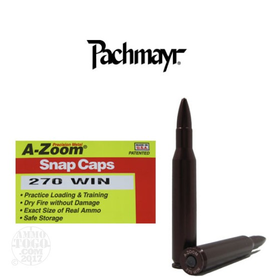 2rds - 270 Win Pachmayr A-Zoom Snap Caps