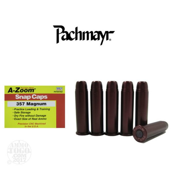 6rds - 357 Magnum Pachmayr A-Zoom Snap Caps