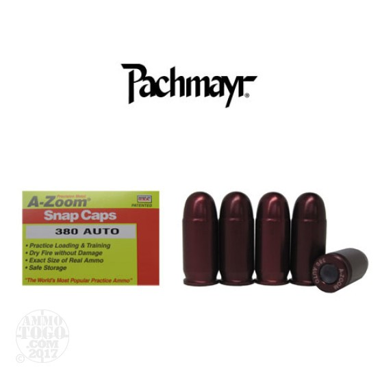 5rds - 380 Auto Pachmayr A-Zoom Snap Caps