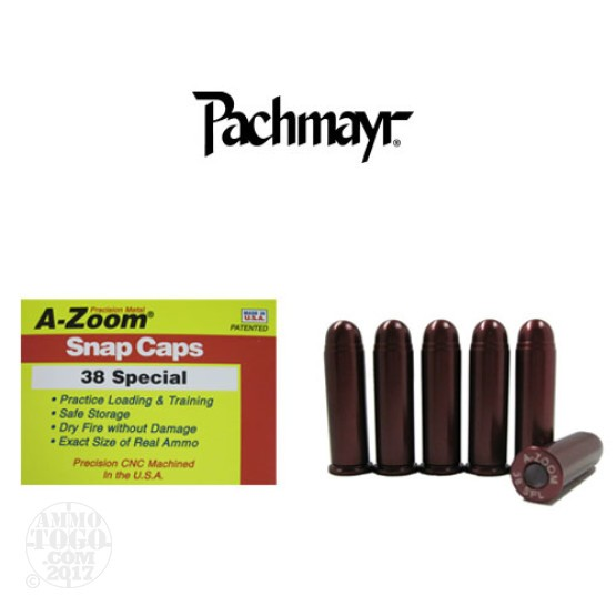 6rds - 38 Special Pachmayr A-Zoom Snap Caps