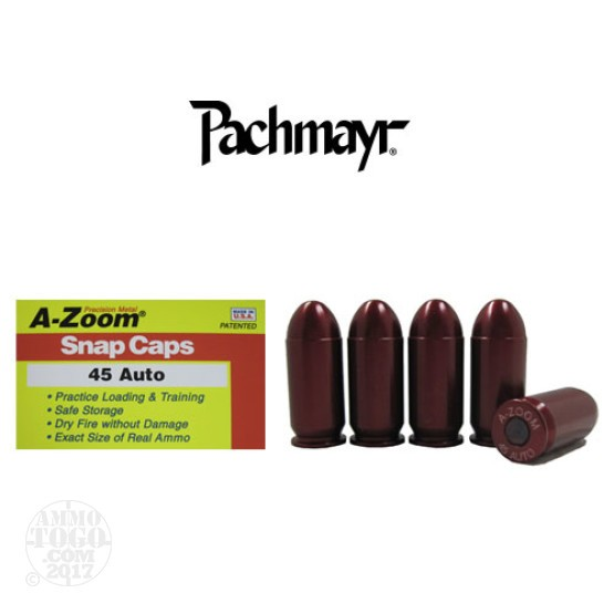 5rds - 45 Auto Pachmayr A-Zoom Snap Caps