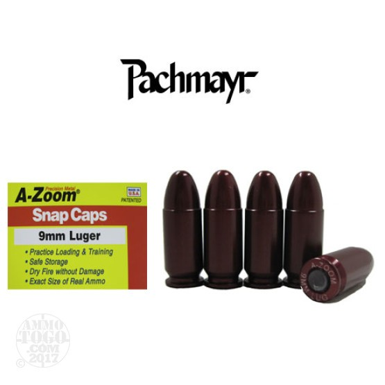 5rds - 9mm Luger Pachmayr A-Zoom Snap Caps
