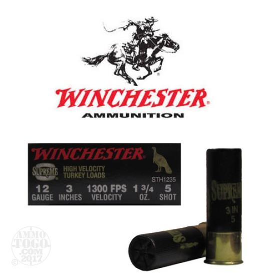 "10rds - 12 Gauge Winchester Supreme 3""  1 3/4oz.  #5 Turkey Load"