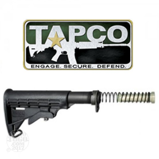 1 - TAPCO AR-15 / M4 / M16 Complete T6 Collapsible Stock Black