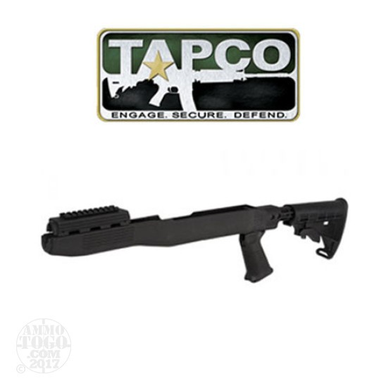 1 - TAPCO SKS T6 Collapsible Stock System with Spike Bayonet Cut Black