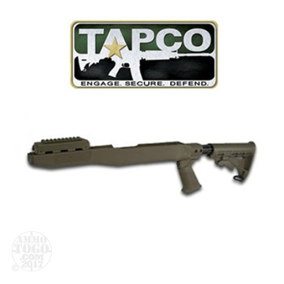 1 - TAPCO SKS T6 Collapsible Stock System with Spike Bayonet Cut OD Green